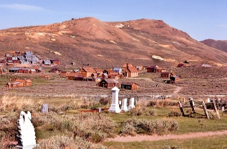 The ghost town of Bodie 1974