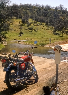 My CB350 on Crow Canyon Road