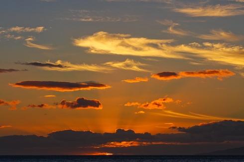 February sunset over Ma'alaea Bay.