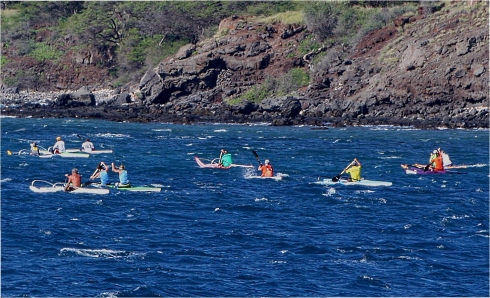 Kayakers on Ma'alaea Bay